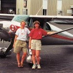 Jenny with her Luscombe Tailwheel and friend Ann